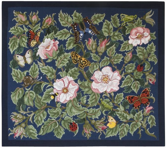 ... the picture to see the blue version of the Rose Garden needlepoint rug