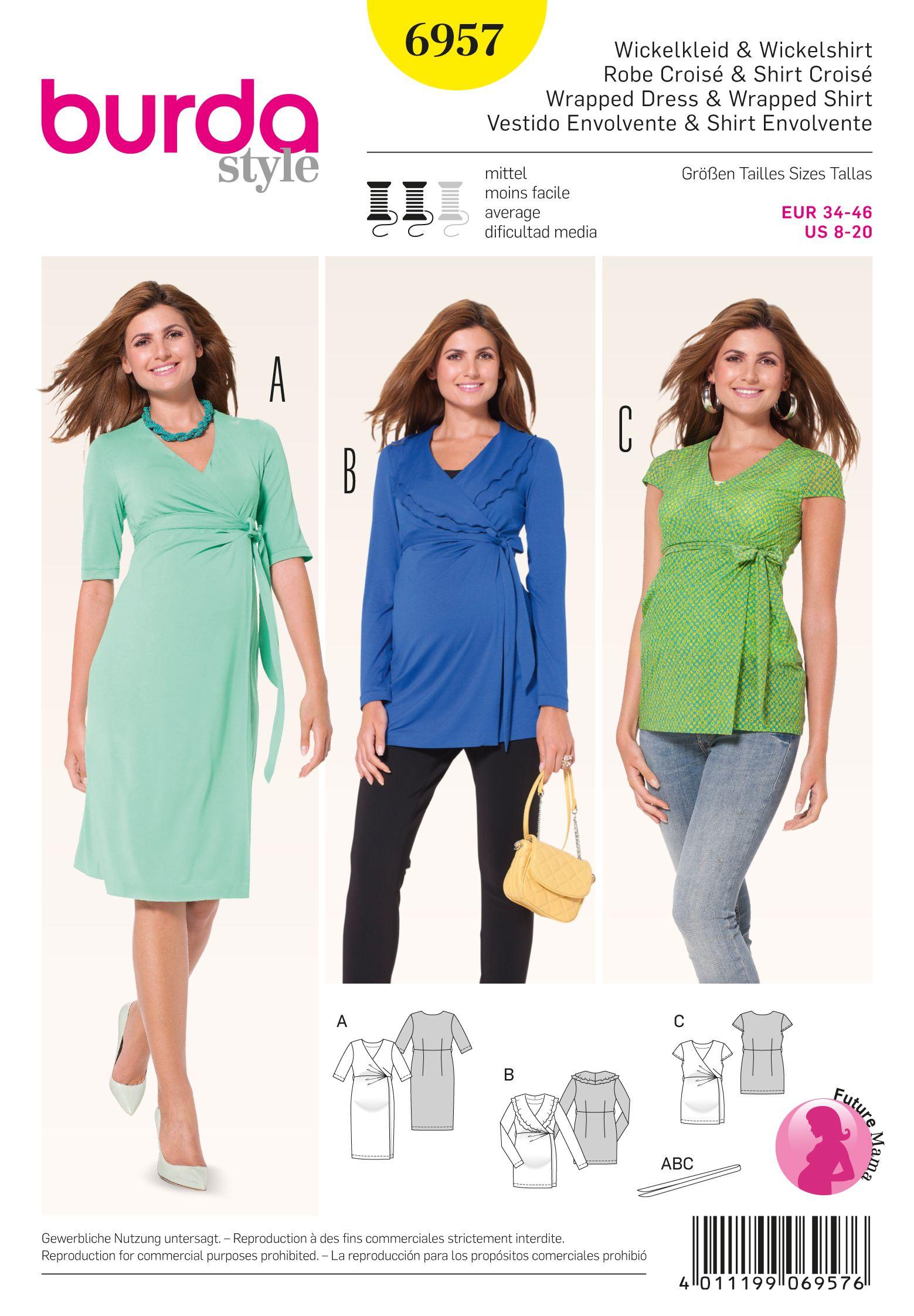 Simplicity creative group misses maternity knit dress or mini burda 6957 maternity wear ombrellifo Images