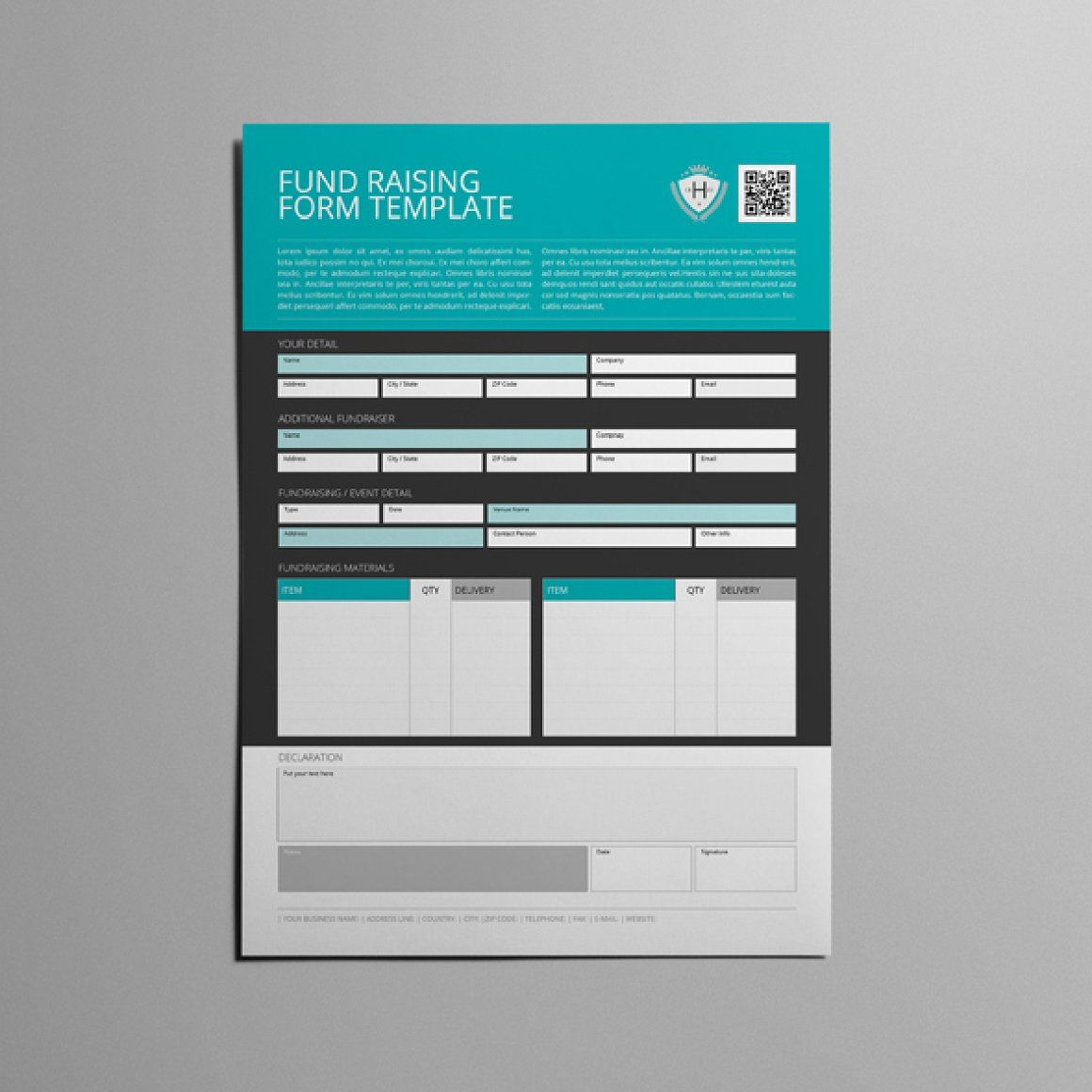 Interview Evaluation Form A4 Template CMYK