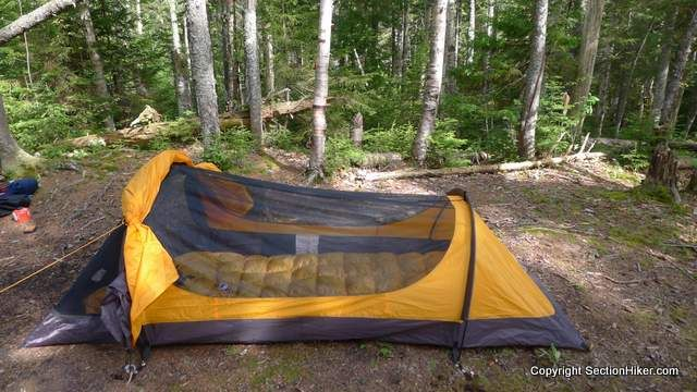 The Eureka Solitaire is a surprisingly good value for a bivy-style tent that has more interior room than more expensive tents or tarp shelters. & Eureka Solitaire 1P Tent Review - http://sectionhiker.com/eureka ...