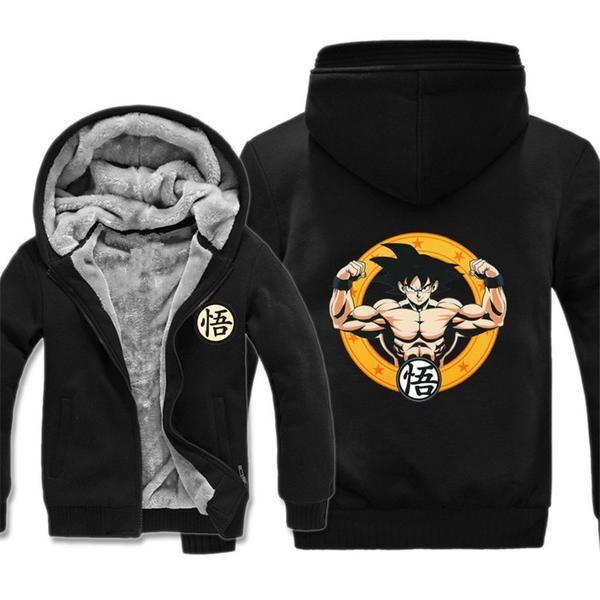 Dragon Ball Z Goku Winter Hoodie Black