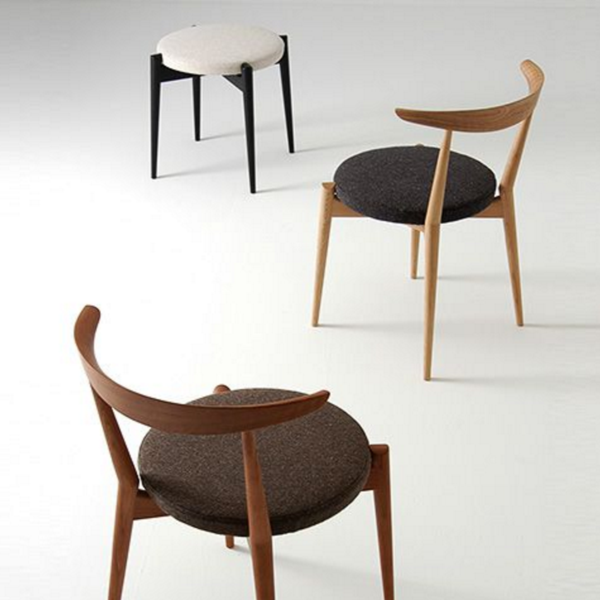 Forms Upholstered Stackable Chair Wooden Dining Room Chairs
