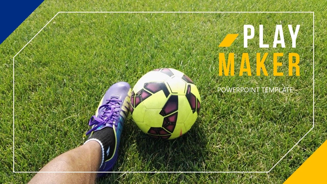 Playmaker Football Powerpoint Template Football Playmaker