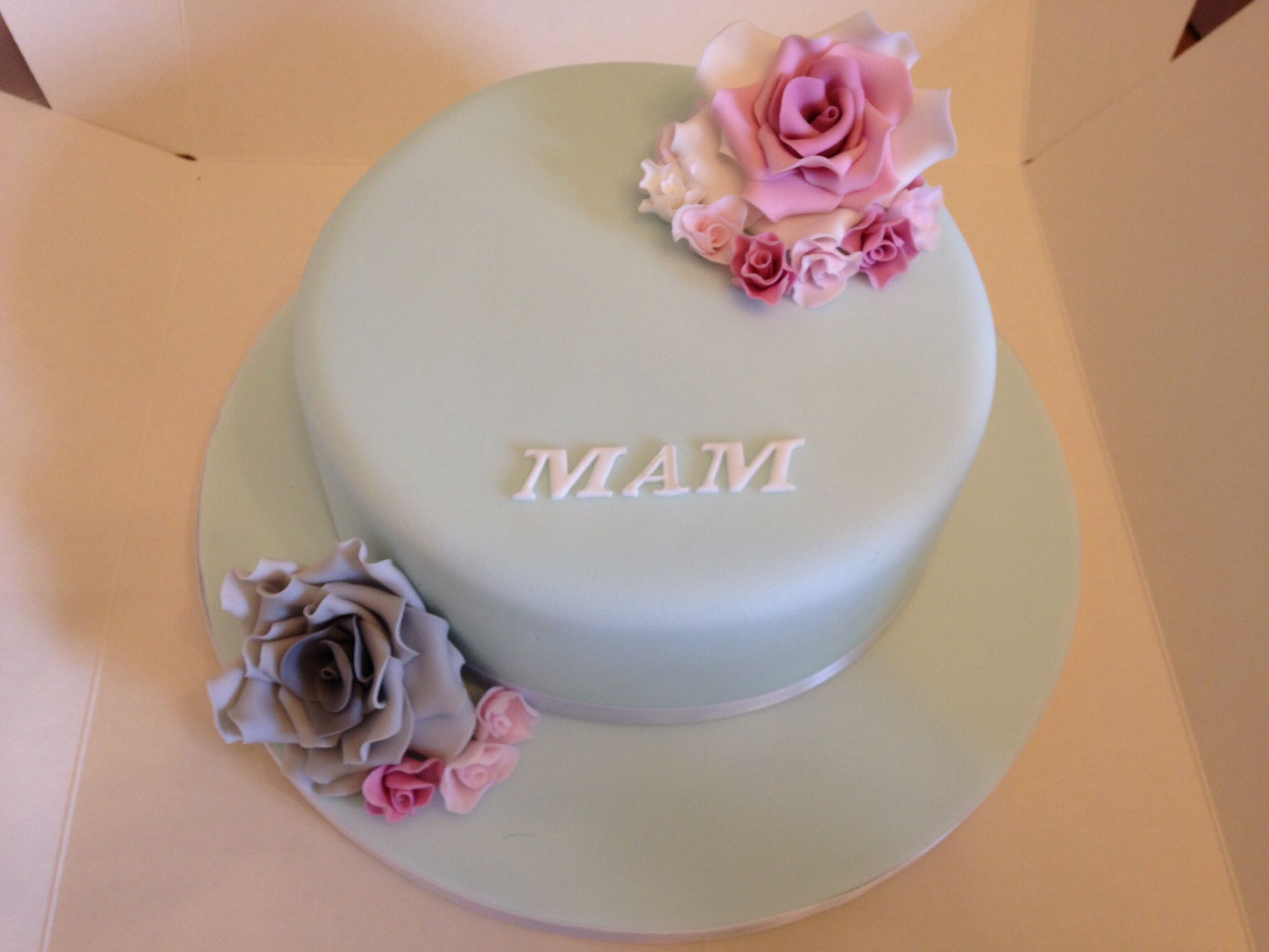 Vintage Shades On A Birthday Cake For A Mam Or Mum Brown