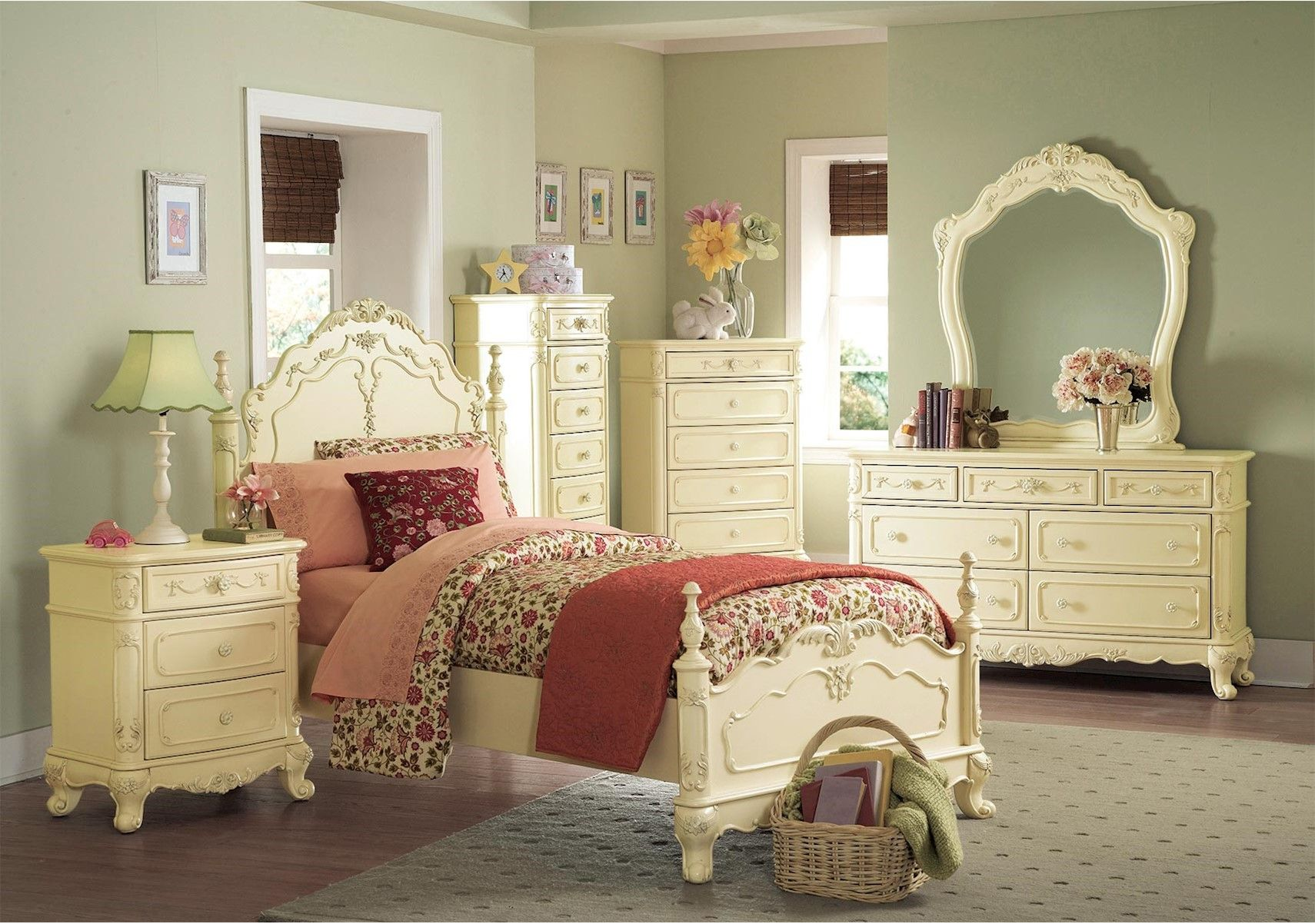 Lacks  Cinderella 4Pc Twin Kids Bedroom Set  Kid Spaces Impressive Kids Bedroom Set Decorating Inspiration