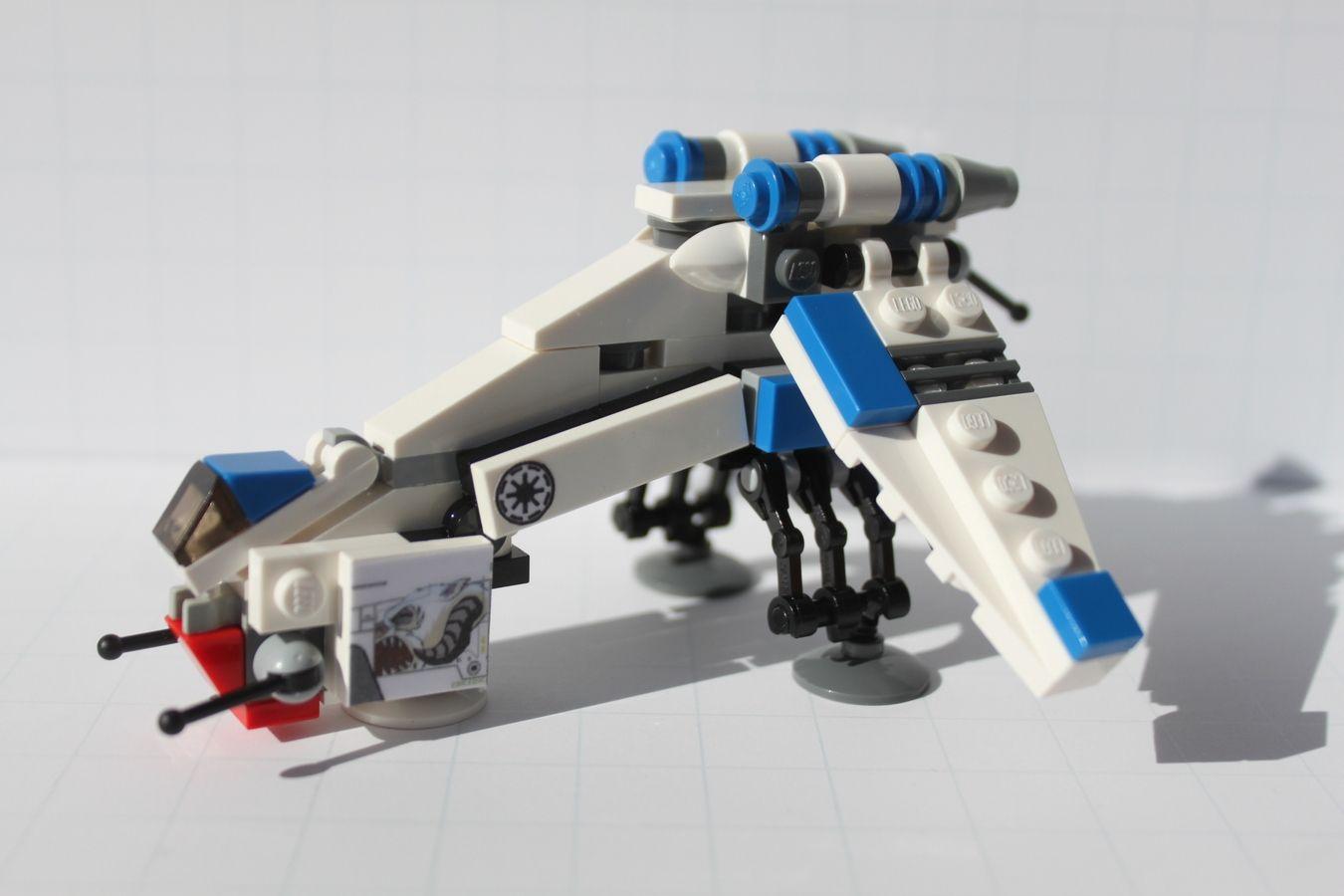 Lego Star Wars Mini Republic Dropship Laatc Wampa Runner