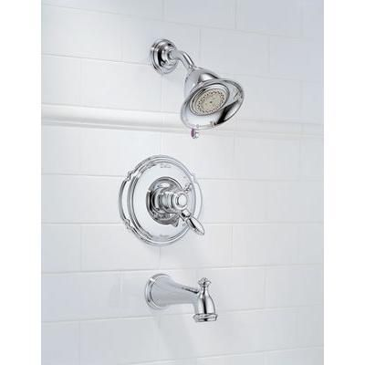 Delta Victorian 1 Handle Tub And Shower Faucet Trim Kit In Chrome Valve Not Included T17455 With Images Tub And Shower Faucets Shower Tub Shower Faucet