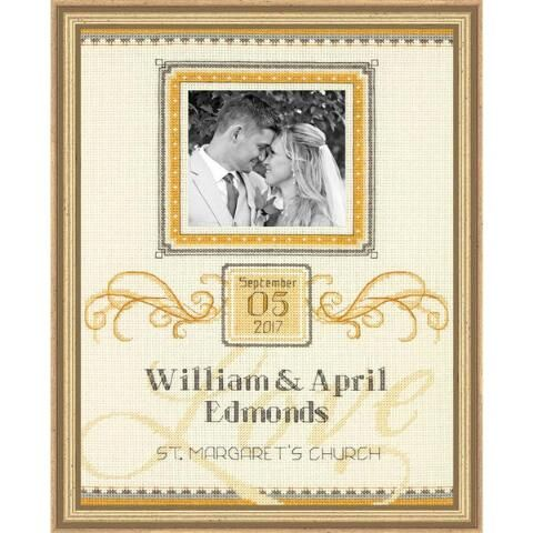Dimensions® Elegant Flourish Wedding Record Kit & Frame Counted Cross-Stitch Kit Was: $36.98                     Now: $31.99