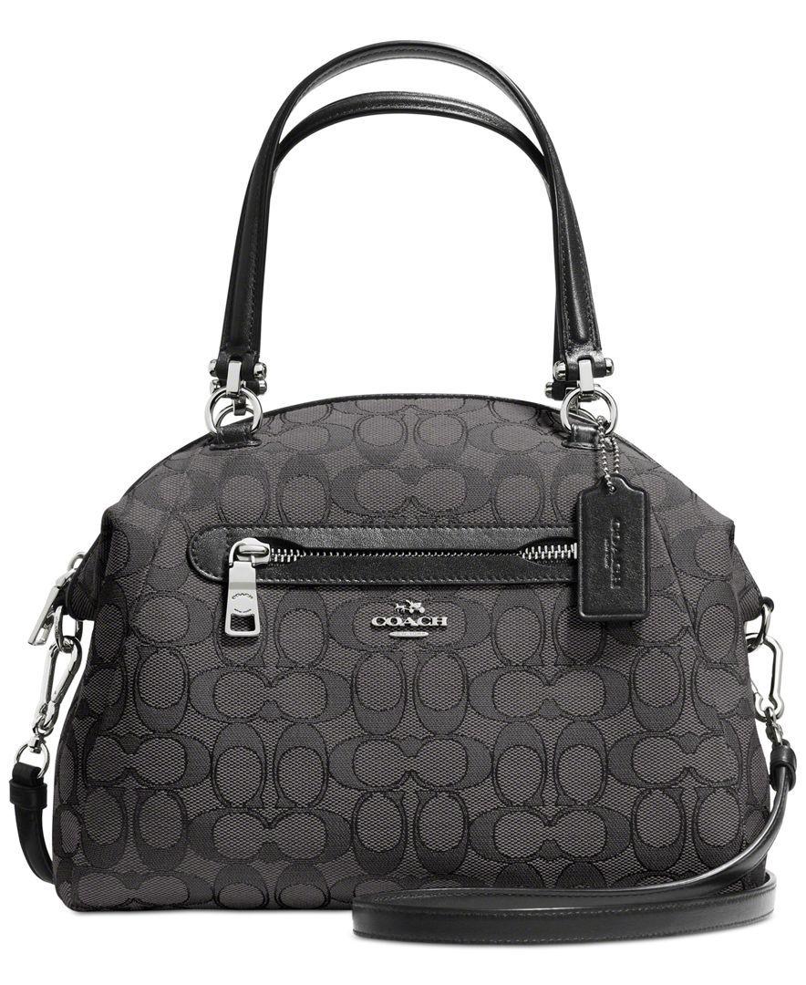 Coach Prairie Satchel In Signature Canvas Handbags Accessories Macy S