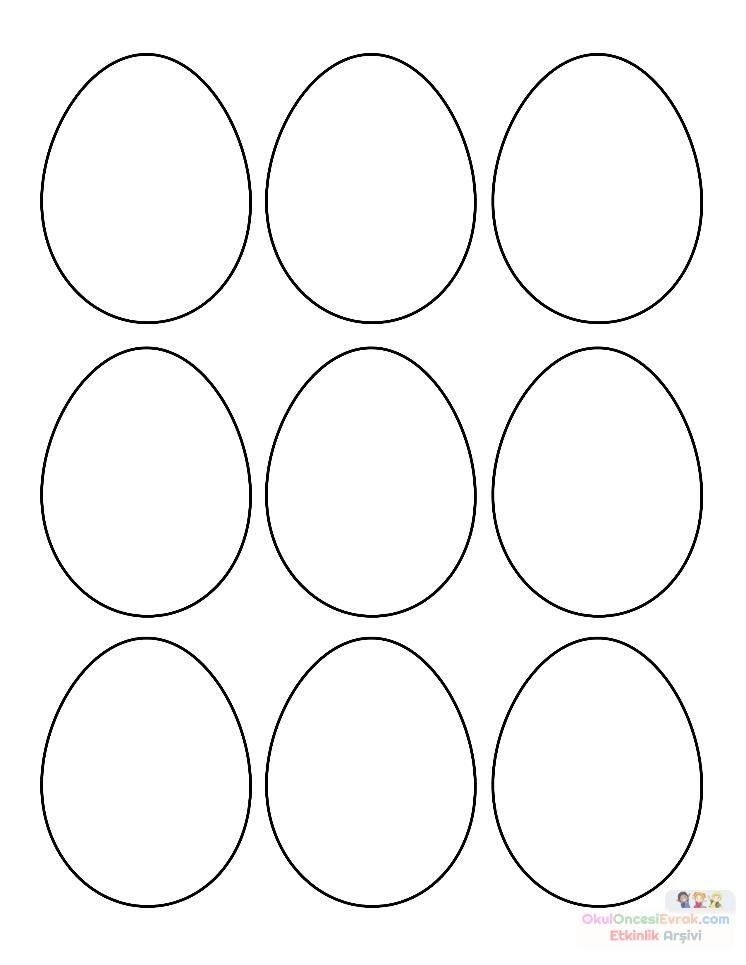 Yumurta Kalibi Okul Oncesi Ile Ilgili Gorsel Sonucu Easter Egg Template Easter Egg Coloring Pages Easter Coloring Pages