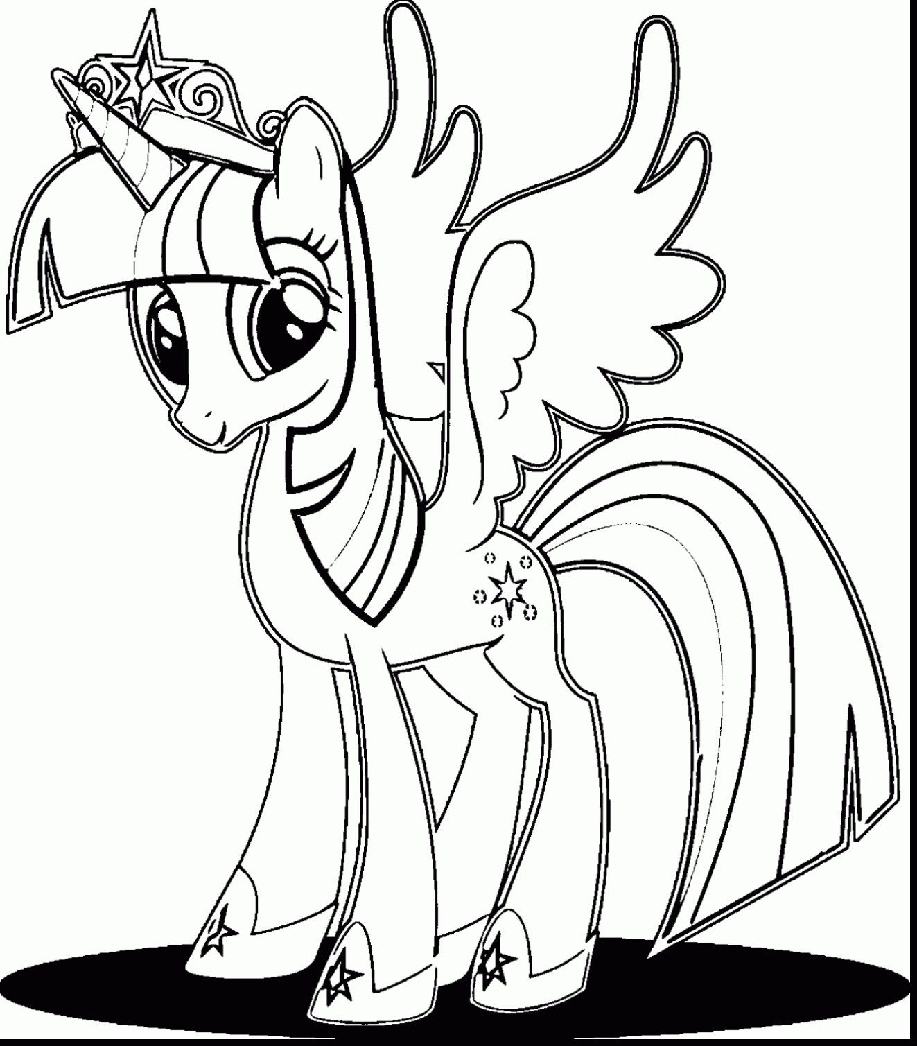 Coloring Pages Of Princess Twilight Sparkle Cartoon Coloring