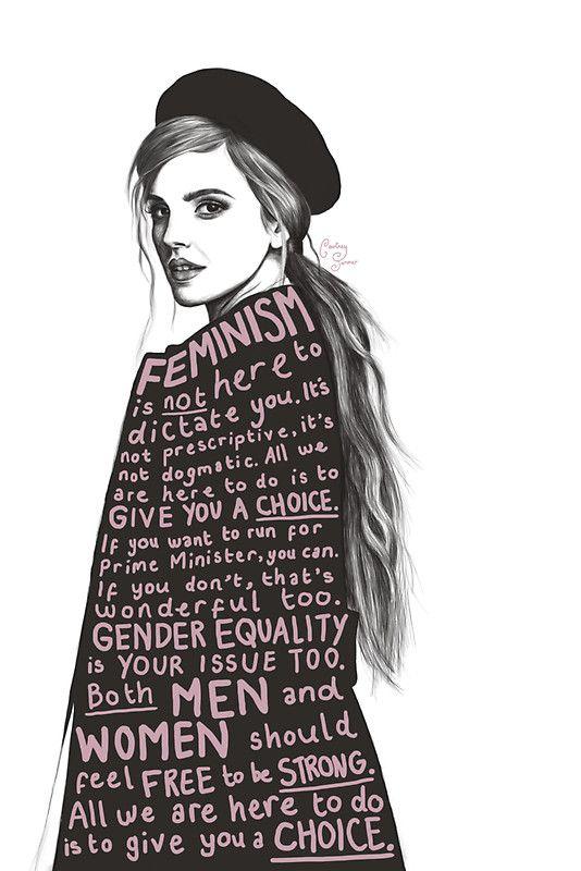 Emma Watson Feminism Design' Sticker by courtneysummer
