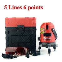 5 Lines 6 Point Laser Level 360 Rotary Outdoor Laser Leveling Red Line Cross Lazer Levels Without Battery Laser Levels Rotary Lazer