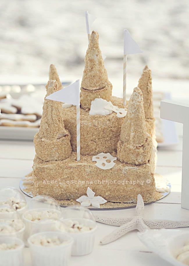 Boys Beach Birthday Party Sand Castle Cake Ideas Conley Shower