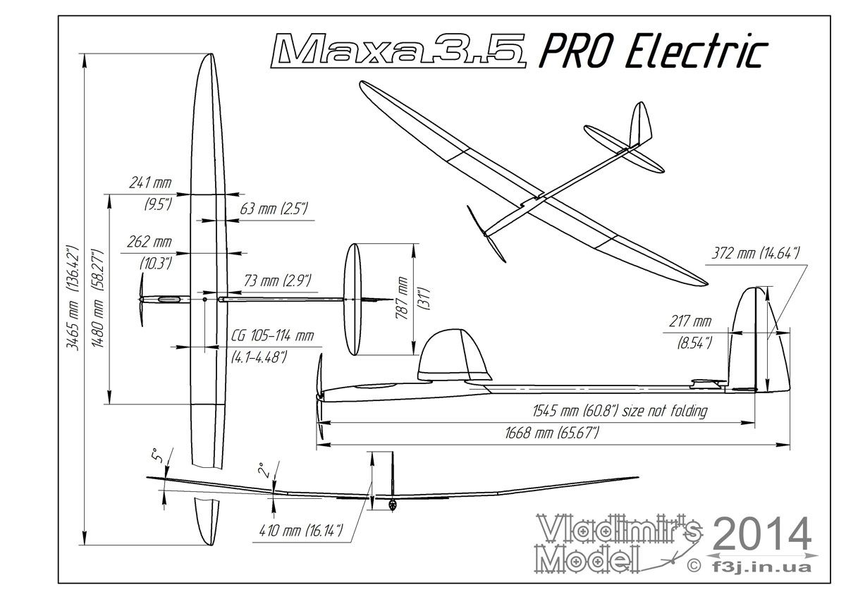 maxa pro 3 5e electric rc gliders larger f5j electrics [ 1200 x 850 Pixel ]