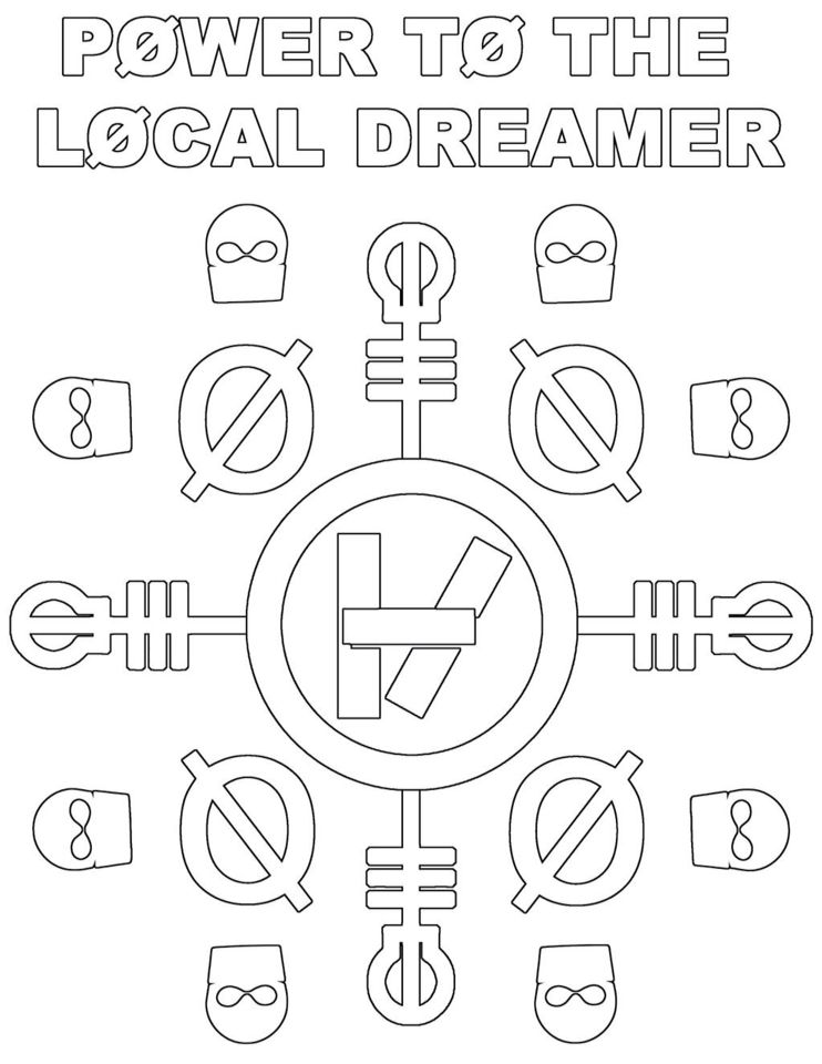 twenty one pilots coloring page - One Coloring Page