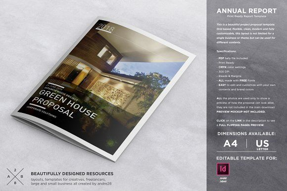 Annual Report Proposal Template By Andre On Creativemarket