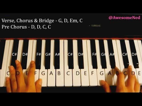Easy Piano Tutorial How To Play Let It Go By Demi Lovato Frozen