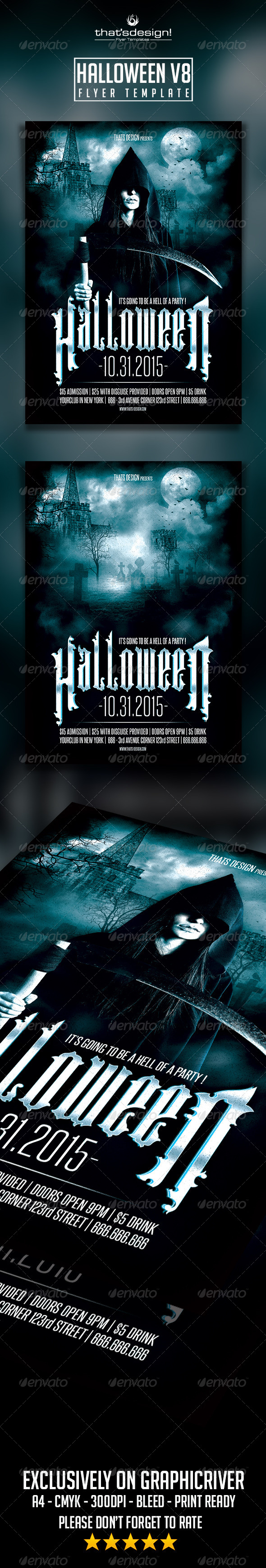 halloween flyer template v8 pinterest flyer template psd