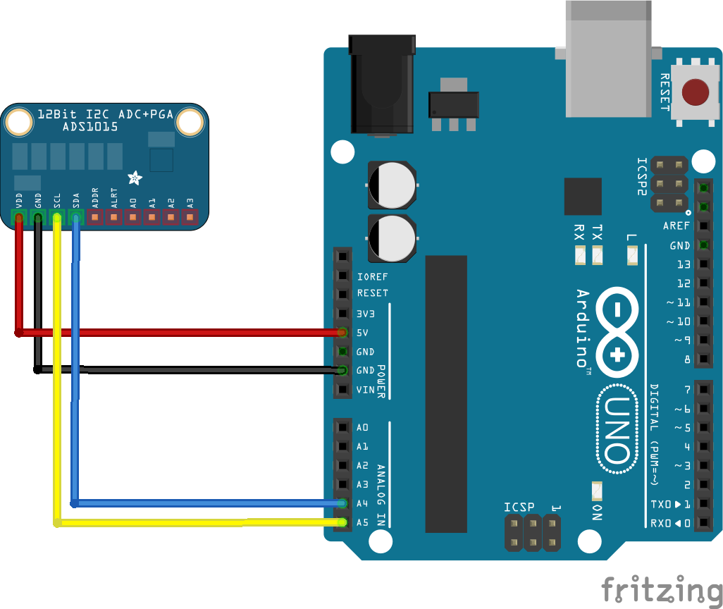Arduino and ADS1015 analog-to-digital converters #arduino ...