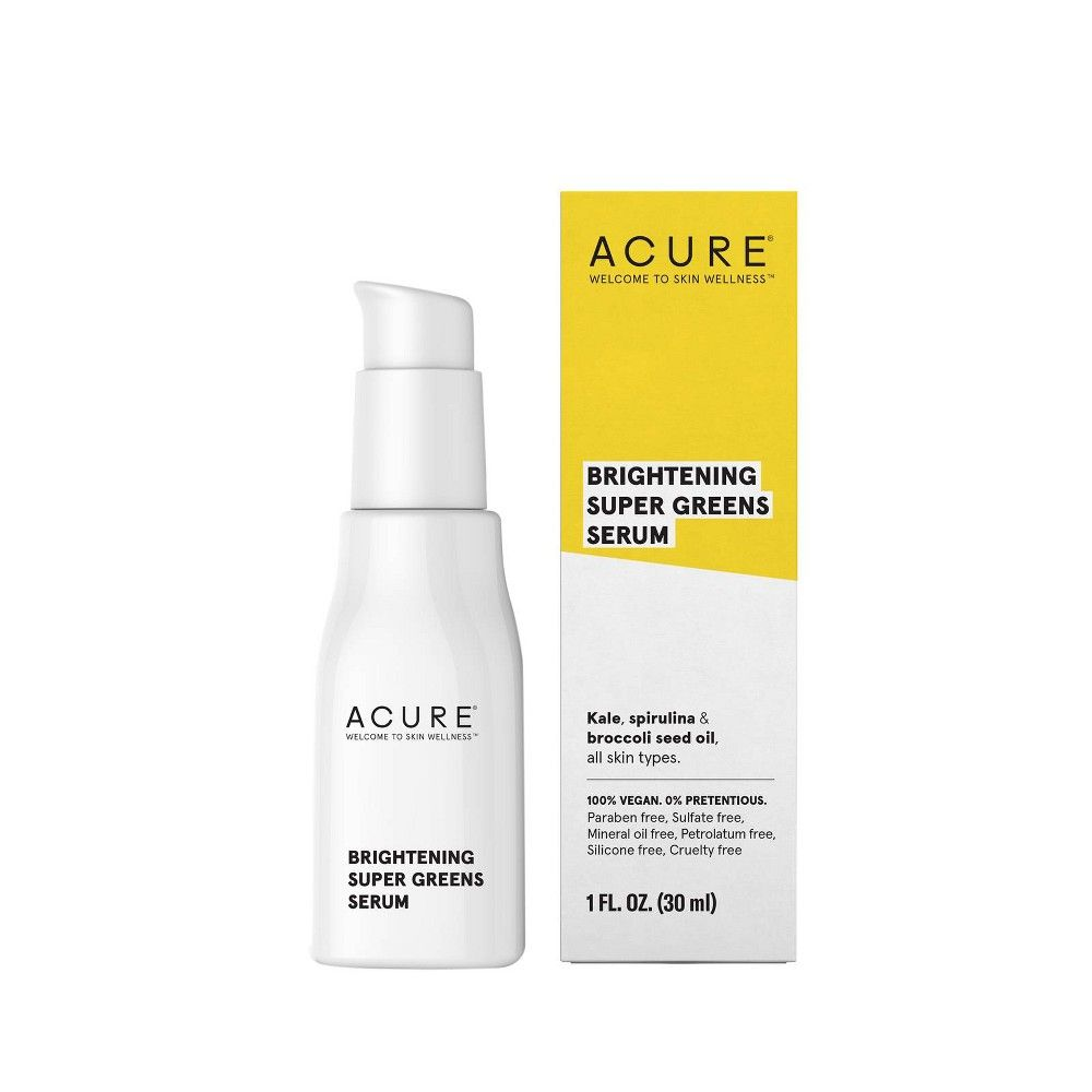 Acure Super Greens Flowing Quick Dry Serum Facial