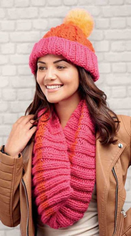 Quick Cabled Hat & Cowl - Free Knitting Patterns - Accessories