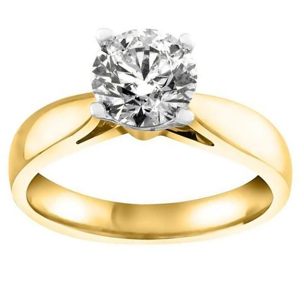 Yellow Gold 1 00 Carat Canadian Diamond Solitaire Ring