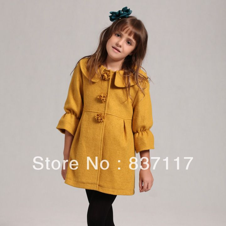 coat jacket patterns size 7 little girls | size 4 to10 2014 girls brand outerwear coat kids apparel children ...
