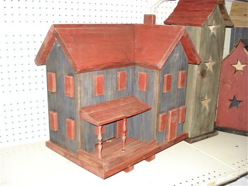 Amish Country Farmhouse Garden Bird House and Feeder