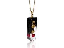 Zawieszka Z Lancuszkiem Seria Z Koralem Gifts Personalized Jewelry Jewelry