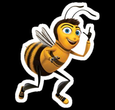 Sms Bee Bee Movie Barry B Benson Stickers