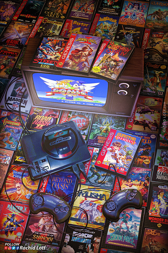 Artstation Sega Mega Drive Genesis Rachid Lotf Retro Gaming Art Retro Video Games Retro Gaming