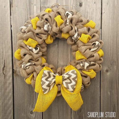 Fall wreaths how to make multi colored burlap wreath for How to decorate a burlap wreath for christmas