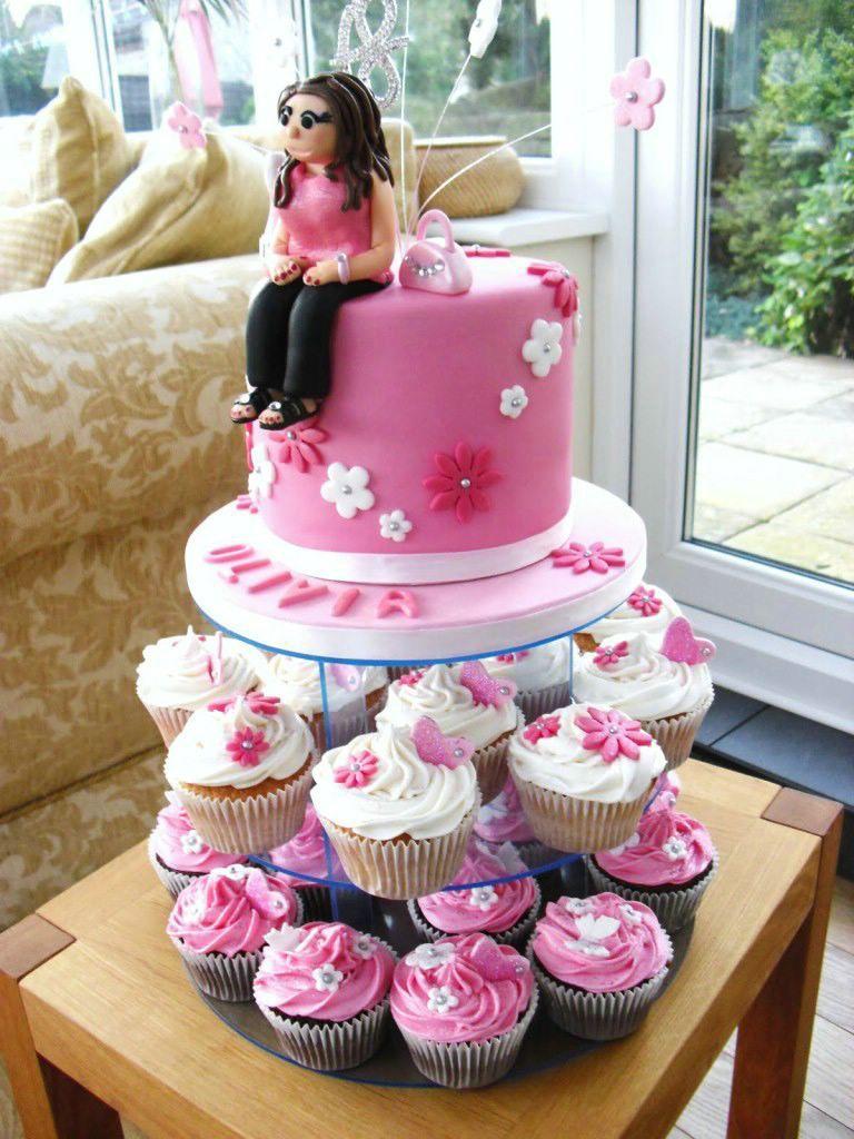 18th Birthday Cake And Cupcakes Birthday Cake Ideas Pinterest