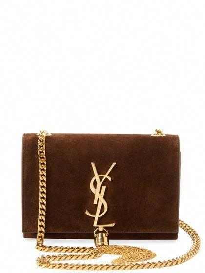 0d77ea504cf Classic Monogram Tassel Small Brushed Leather Crossbody by Saint Laurent  Paris at Gilt #Designerhandbags