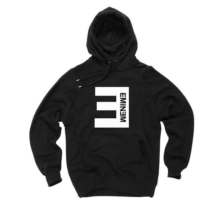 Eminem Font Black Hoodies Hoodies New Black Color Black Hoodie