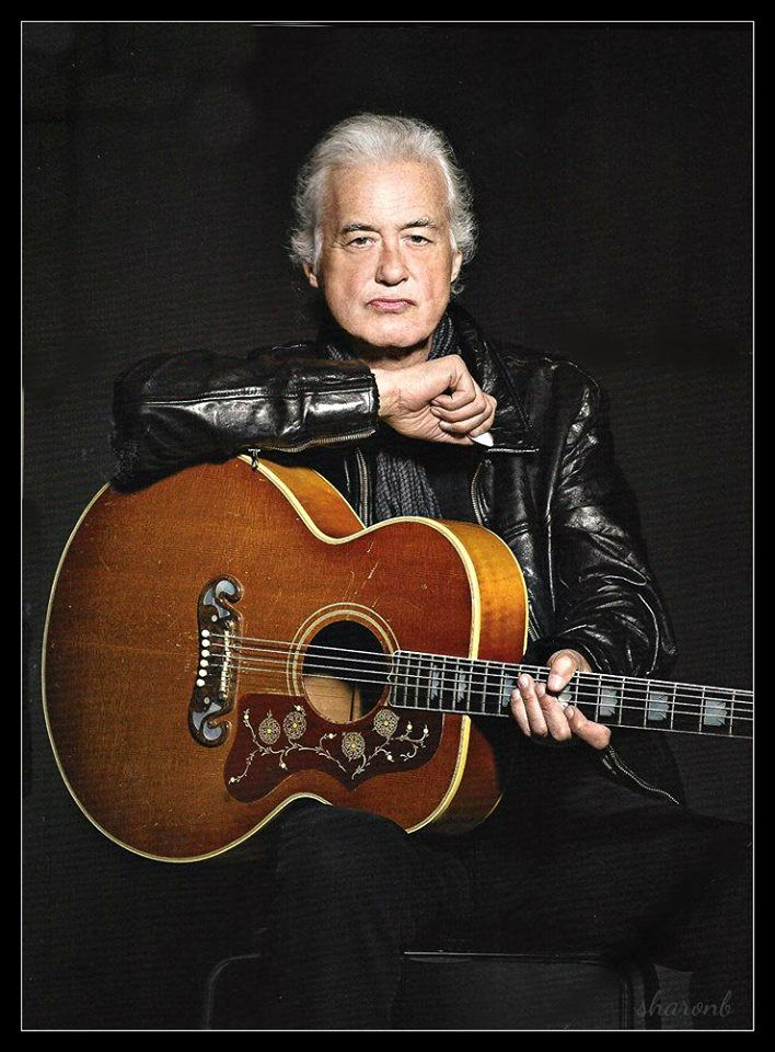 Jimmy Page With His Acoustic Gibson In The July 2014 Issue Of Guitar World He S Also On The Cover And It S Coming Out Now Jimmy Page Led Zeppelin Led Zep