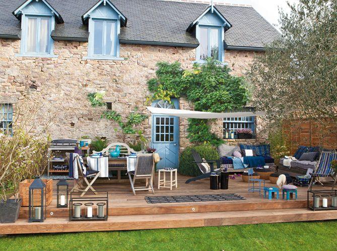 Conseils pratiques elle d coration terrasse maison - Amenagement terrasse et jardin photo ...