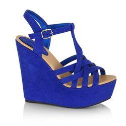 78be1a2372bdd BILLINI Audrina Wedge Heels Royal Blue Suede