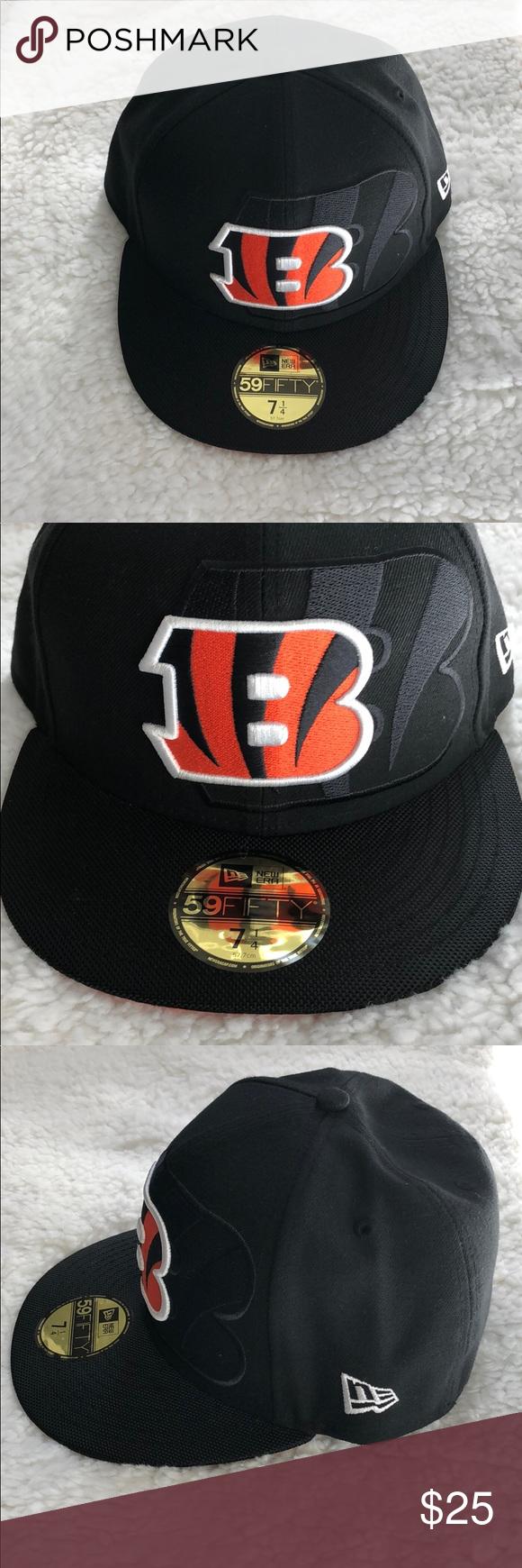 "huge discount 9ced6 8678a New Era Cincinnati Bengals 59fFIFTY Cap Black and orange cincinnati Bengals  new era ""NFL"" fitted cap featuring embroidered Cincinnati Bengals team logo  on ..."