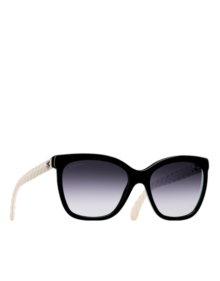 Butterfly acetate sunglasses with... - CHANEL   SLG's ... : chanel quilted glasses - Adamdwight.com