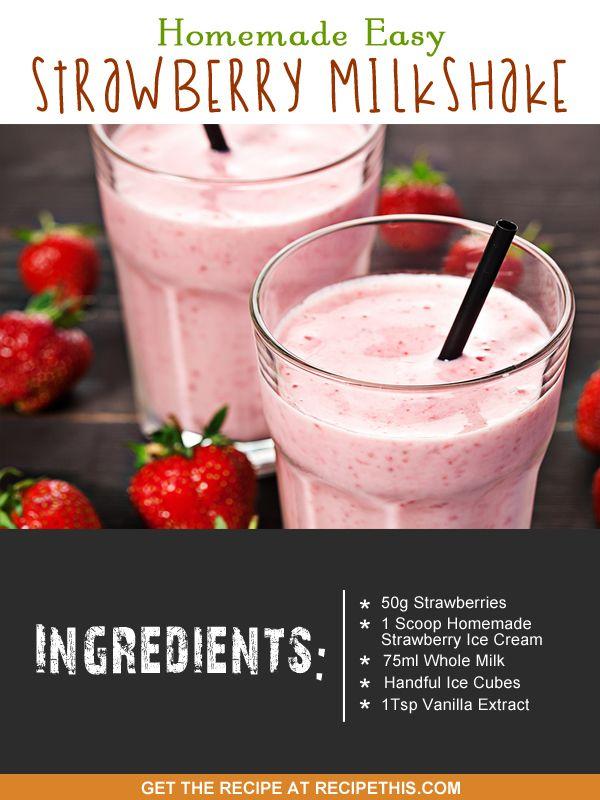 Homemade Mcdonalds Strawberry Milkshake In The Blender Recipe Milkshake Recipe Strawberry Maca Smoothie Food