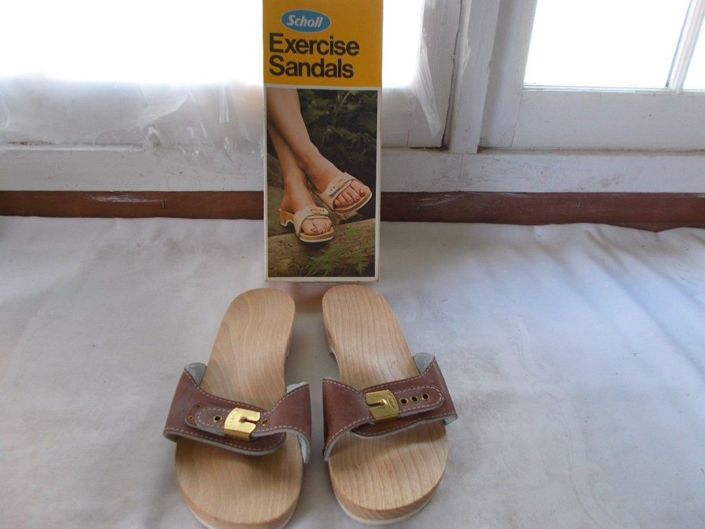 bf34770bb659 New Dr Scholl s Exercise Sandals Wood Brown Size 7  DrScholls  Sandal   Casual
