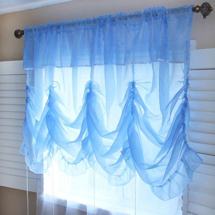 com ideas chic balloon stribal instructions shabby elegant curtain curtains home