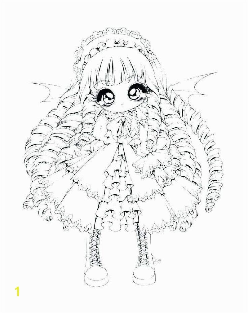Cute Anime Chibi Girl Coloring Pages Coloring Printable