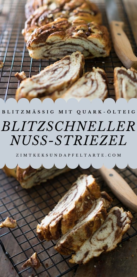 Photo of Chocolate nut striezel – super quick from quark oil dough