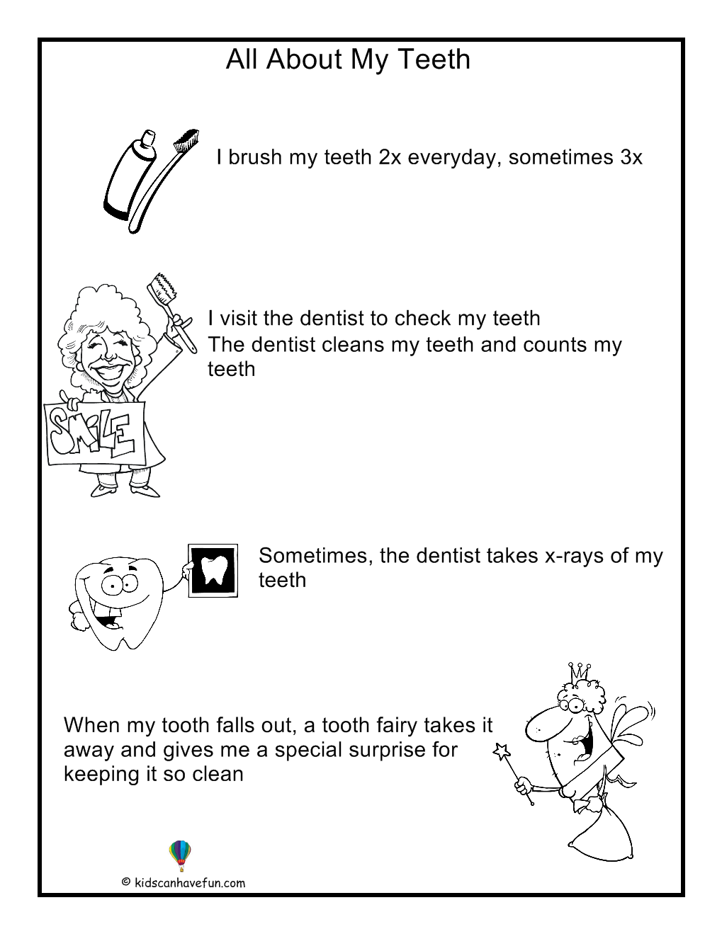 About My Teeth poster for kids | All About Me | Pinterest