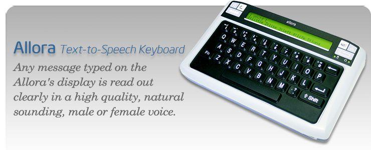 Allora texttospeech device aac electronic devices