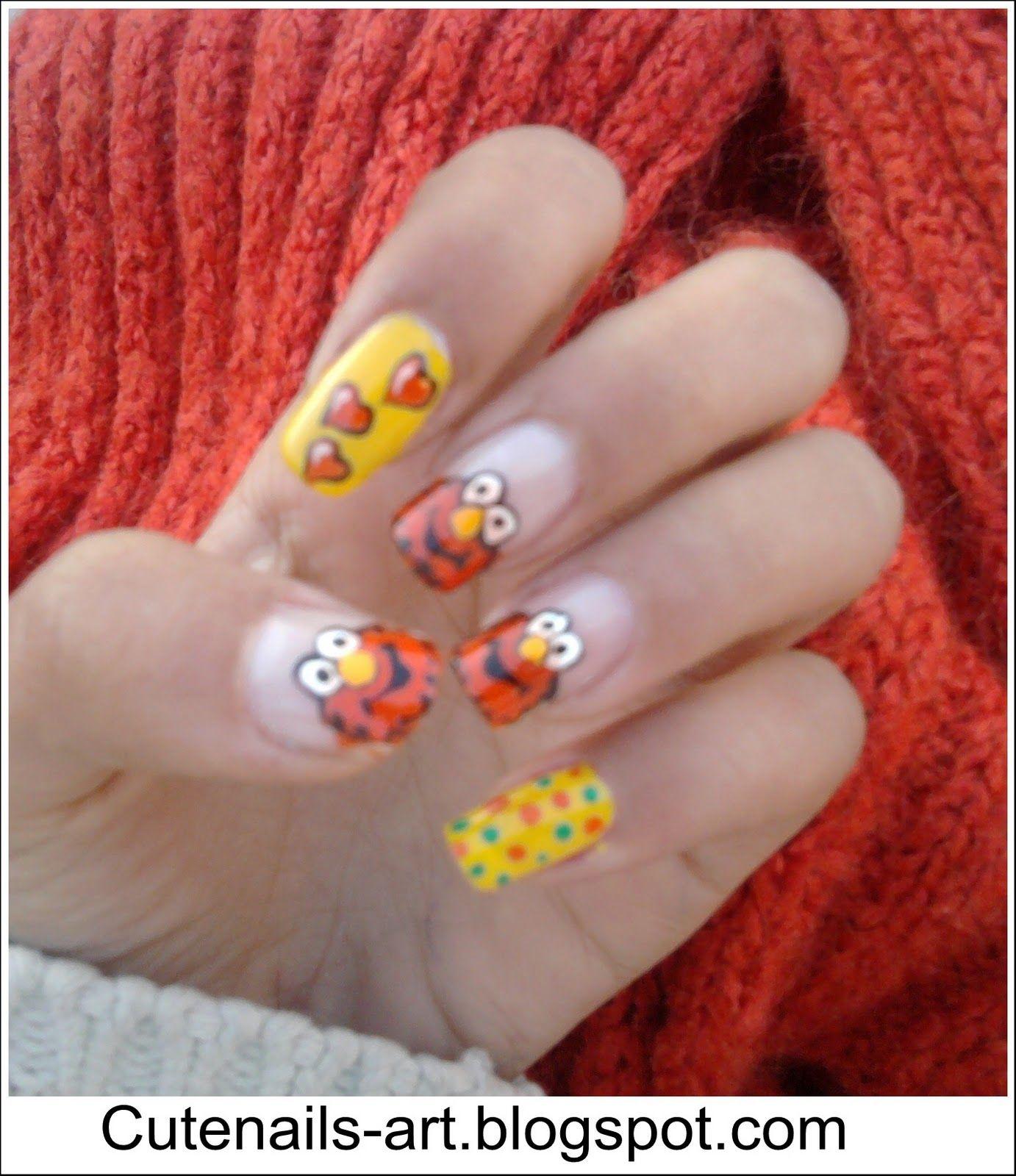 elmo nail designs | cutenails-art | Fingernail Art (Summer) | Pinterest