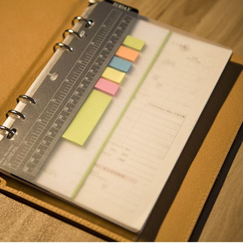 A5A6 A7 PP Frosted Planner\u0027s Inner Pages Spacer Plate Diario Binder